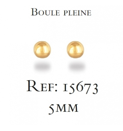 Gold plated plain ball earrings