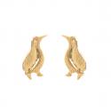 Boucles d'oreille plaqué or dormeuse avec perle d'imitation de Majorque grise 16MM
