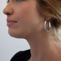 Boucles d'oreille créoles argent rhodié