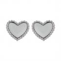 Boucles d'oreille acier forme coeur