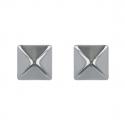 Boucles d'oreille acier forme carrée 10MM